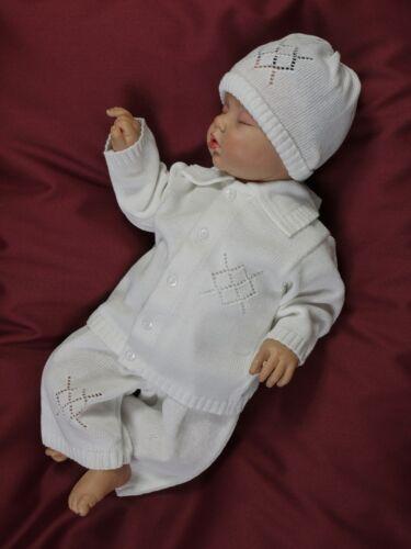 Taufanzug Set*junge Häkel Strick Jacke Mütze*NEU 56 62 68 74 80 86 Babyanzug