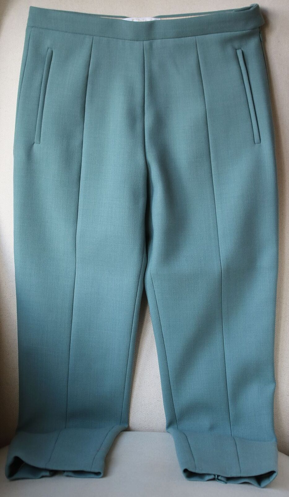 CHLOÉ WOOL BLEND TAPERED TROUSERS FR 38