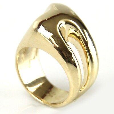 Innovative Asymmetrical 14k Yellow Gold Designer Ring