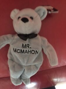 WWF-Attitude-Bears-Mr-McMahon-Beanie-Toy-SEE-PHOTOS-Rare-Toy