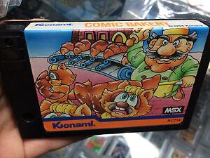 COMIC-BAKERY-gioco-MSX-Konami-RC714-PAL-VA-SU-TUTTI-Sony-Thoshiba-Canon-Philips