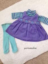 American Girl 2003 Bitty Twin Girl Corduroy Play Outfit 3 PC NEW Shirt Dress