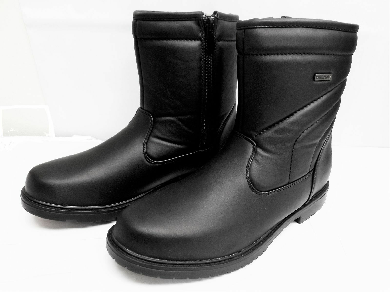 Mens CLIMATE X S700B Black Waterproof Side Zip Warm Lined Winter Boots
