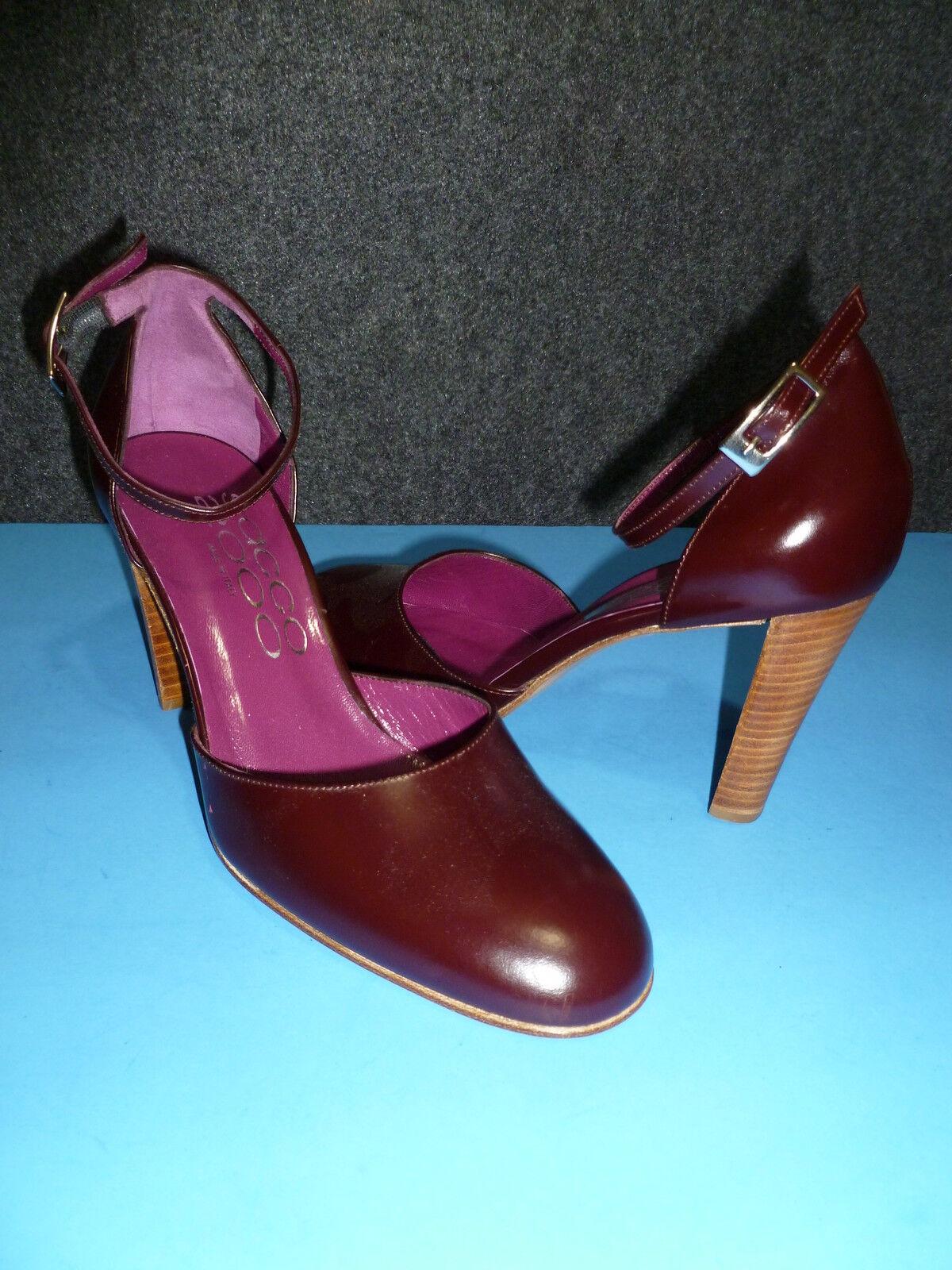 shopping online e negozio di moda SACCO Burgundy Leather Heel Heel Heel Pumps scarpe SZ 37.5 EUR – 7 US  profitto zero