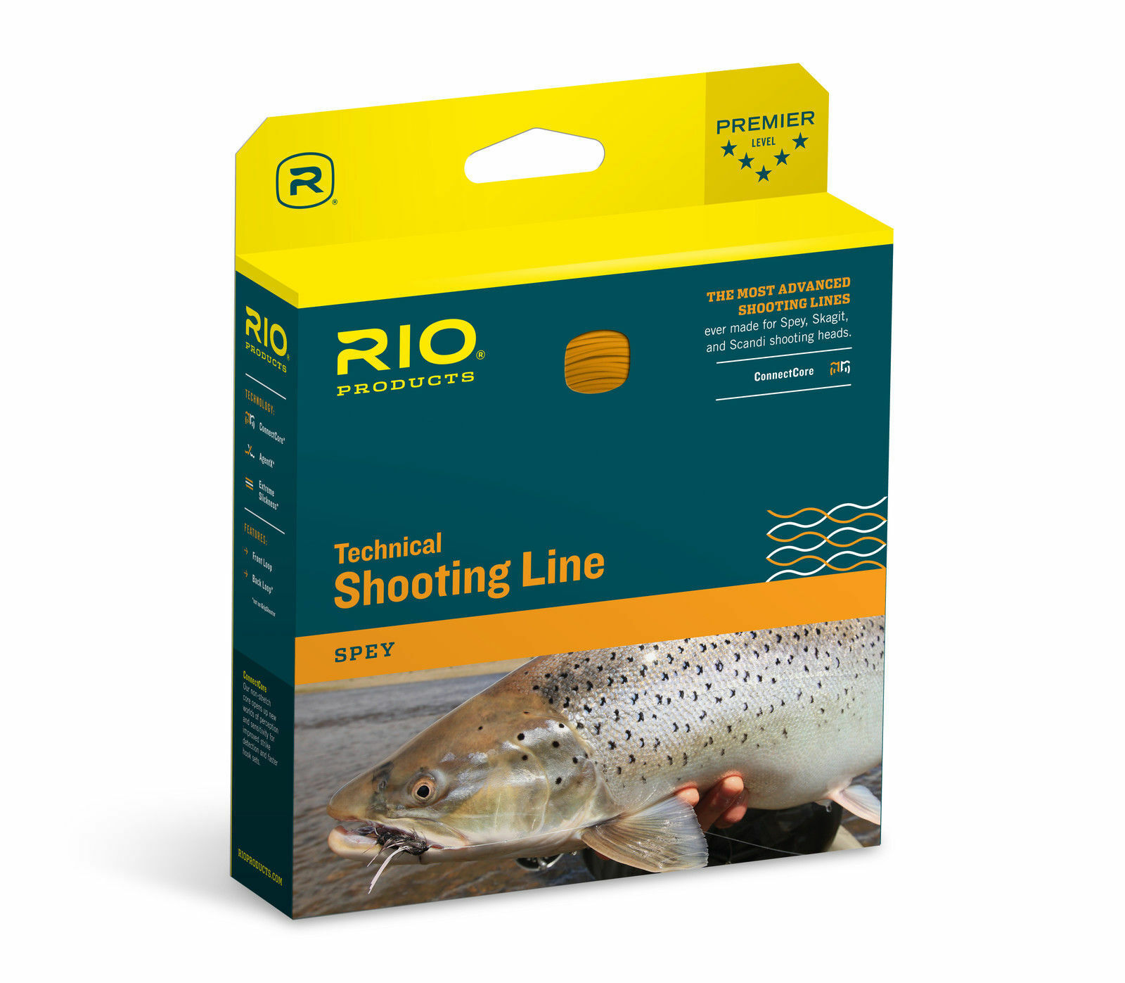 RIO GRIPSHOOTER 35 LB SPEY 15 FT COATED  100 FT HARD NYLON SHOOTING FLY LINE  not to be missed!