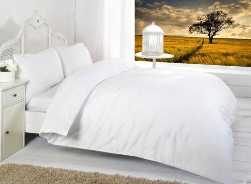 toutes tailles et couleurs sont en Stock duvetcover + drap housse + Oreillers Uni beddingset