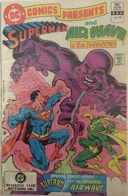 Superman Parasite >> Dc Comics Presents Superman And Air Wave Vs The Parasite 1983 No 55 Ebay