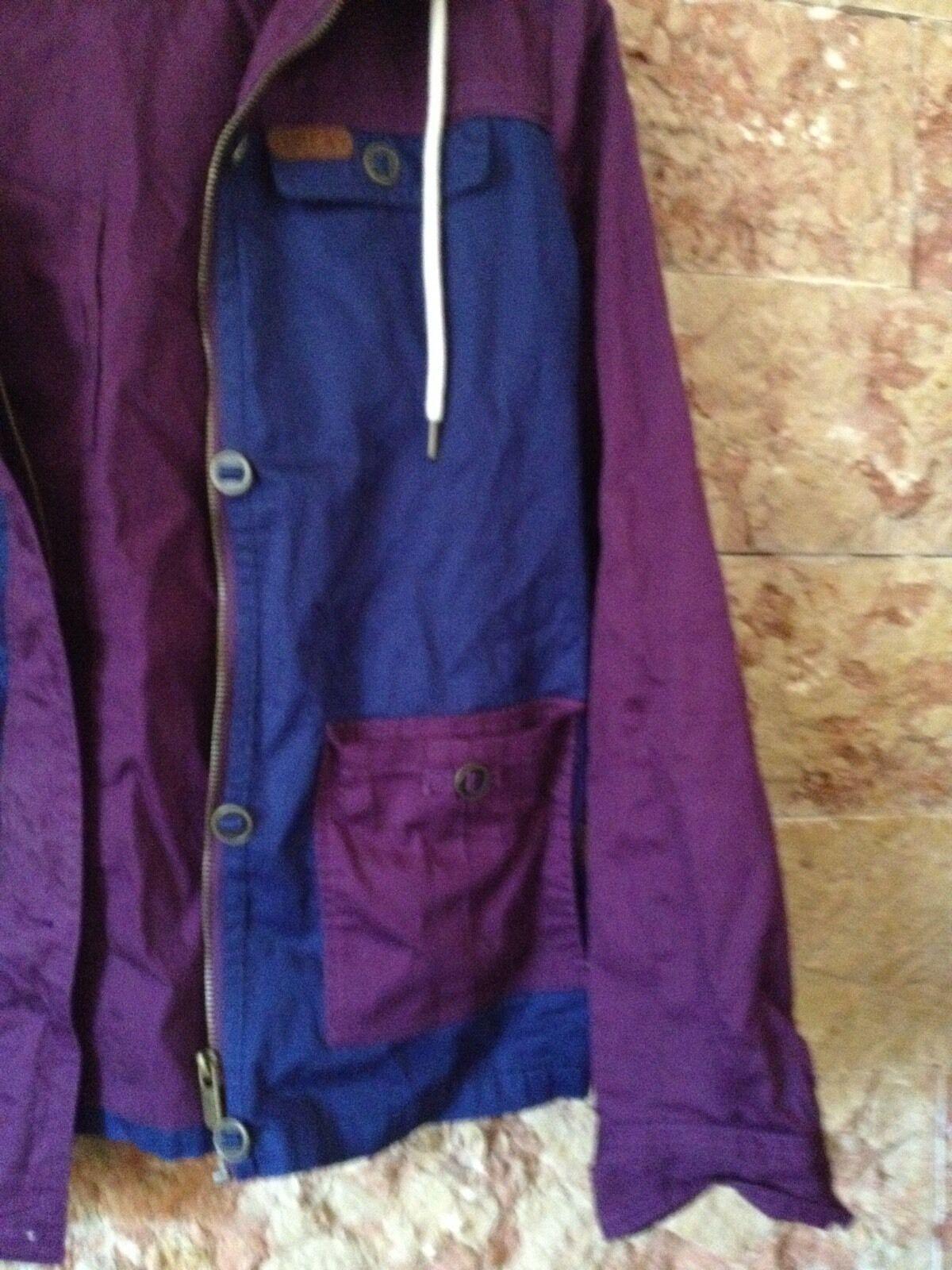 Veste Imperméable Bleu Et Violet Taille 38 Us Capuche Et Poche Taille 10 Us 38 f6f168