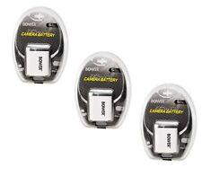 THREE 3X NP-BK1 NP-BKI Batteries for Sony DSC-W190 MHS-CM5 MHS-PM1 MHS-PM5 PM5K