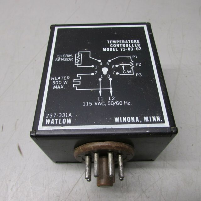 Watlow Model 71-03-02 Temperature Controller 710302 for sale online on transformer wiring diagram, control wiring diagram, compressor wiring diagram, pressure switch wiring diagram, condenser wiring diagram, temperature sensor circuit diagram, pump wiring diagram, switches wiring diagram, heater wiring diagram, 3 pin ac power plug wiring diagram, actuator wiring diagram, rtd wiring diagram, hmi wiring diagram, power supply wiring diagram, timer wiring diagram, temperature controller schematic, starter wiring diagram, ups wiring diagram, motor wiring diagram, power meter wiring diagram,