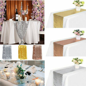 12-034-x-72-034-Sequin-Tablecloth-Table-Runner-Wedding-Party-Banquet-Home-Decoration