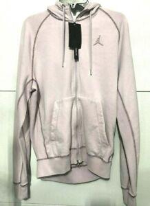 NIKE-Air-Jordan-Wings-Men-039-s-SZ-S-Fleece-Wash-Full-Zip-Hoodie-cd4551-Light-Pink