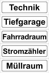 """Schild Oder Klebeschild 5x20cm Komplette Artikelauswahl """"fahrradraum"""""""