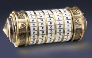 Da Vinci Code Réplique Mini Cryptex En Métal Avec Finition Or Coffret