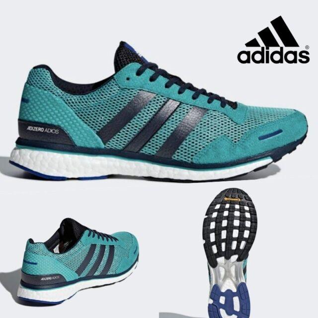Adidas ADIZERO ADIOS 3 Running Neutral Shoes Sneakers AQ0190 Men's SZ 4 12