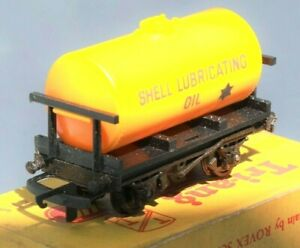 Tri-ang-Railways-T76-TT-Gauge-3mm-SWB-Tanker-Wagon-039-Shell-Lubricating-Oil-039