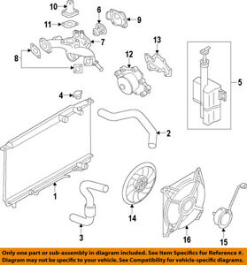 hyundai oem 10-18 santa fe-engine water pump gasket 256523caa0 | ebay  ebay
