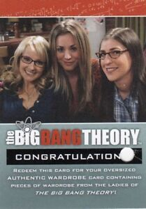 Big-Bang-Theory-Season-3-amp-4-Rare-Ladies-Redeemed-R5-Costume-Redemption-Card