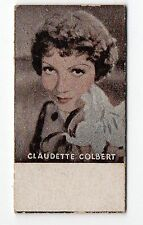Spanish Weighing Weight Machine Card Photomaton US Actress Claudette Colbert