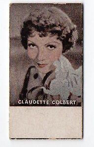 Spanish-Weighing-Weight-Machine-Card-Photomaton-US-Actress-Claudette-Colbert