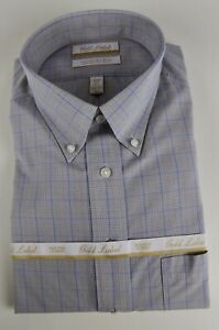 Roundtree /& Yorke Gold Label Non Iron EZ Wash Twill Dress Shirt NWT $75 Purple