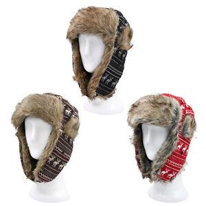 e3b8de872 Details about Warm Winter Reinedeer Faux Fur Trapper Ski Snowboard Hunter  Hat, 3 Colors