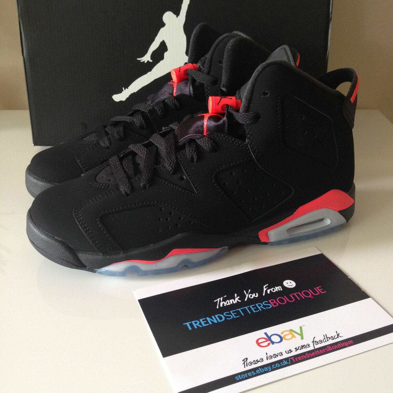 Nike 6 Air Jordan 6 Nike Negro Infrarrojo Gs Bg Kids 384665-023 2018 6.5 29d035