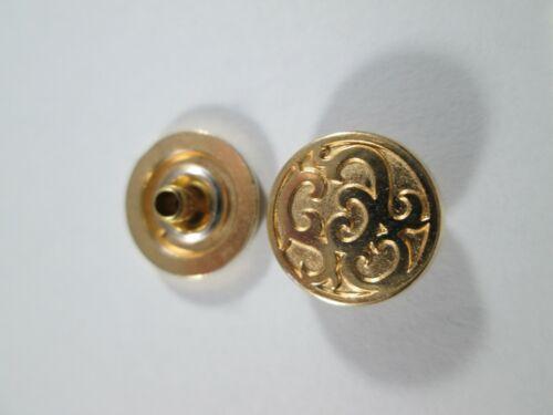 Druckknopf Metall  Knopf Knöpfe 10 Stück Gold   12,5 mm groß  #3406#