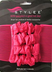 Stylee Hair Accessories Cool Stylee New Gun Metal Cerise Pink Four Strip Hair Accessories  Ebay