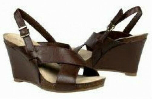 Eurostep Malina sandals leather 3.75 heel sz 9 Med NEW