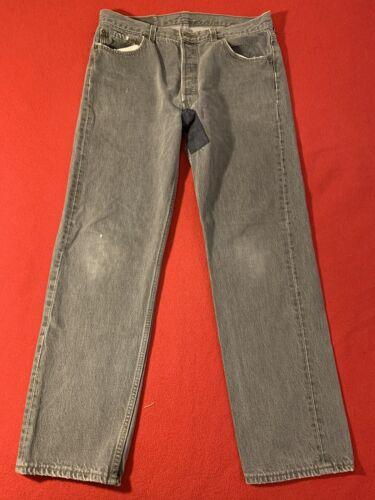 Vintage Levis 501 Black 33 X 29 90s 1990s