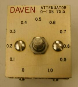 DAVEN-Western-Electric-75-Ohm-0-to-1db-Attenuator-10240-SS-75-1-S-Lot-of-4