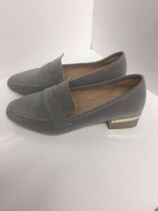 New womens loafers ladies grey suede