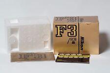 Nikon F3T empty box and F3 instruction manual