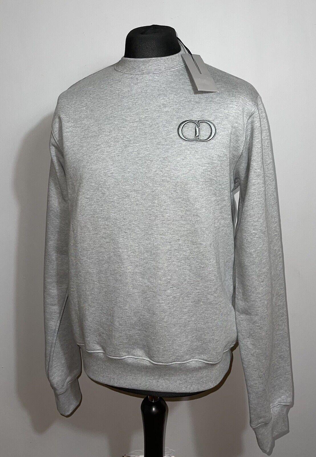 Dior CD Icon Grey Cotton Fleece Sweatshirt BNWT Large Mens Tee RRP L Gray