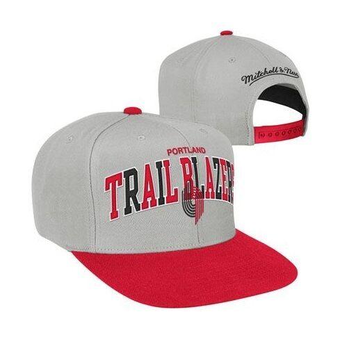 Mitchell & Ness NBA Portland Trail Blazers Tri Pop Arch Snapback Hat Cap Lillard