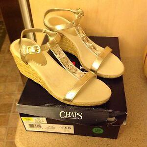 deef3150692 Image is loading Chaps-Dela-Women-Espadrille-Wedges-Sandals-Size-9-