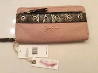 Jessica Simpson Sutton Python Wallet Putty
