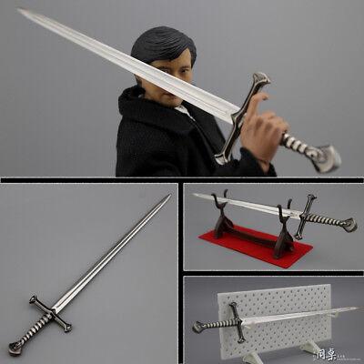 "1:6 Scale Figure Accessory Metal knight sword Model For 12/"" Male/&Female Body"