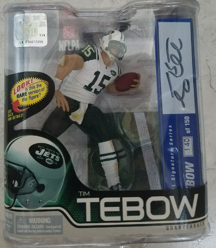 McFarlane NFL Series 31 Tim Tebow New York Jets White Jersey Autograph  150