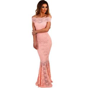 Caricamento dell immagine in corso Elegante-vestito-abito-lungo-rosa-pizzo -evento-tubino- 21633840448