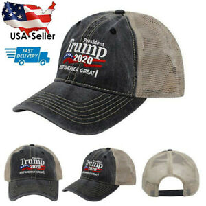 Donald-Trump-2020-Keep-Make-America-Great-Again-Mesh-Cap-Embroidered-Hat-USA