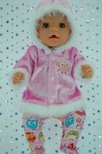 "Play n Wear Doll Clothes To Fit 17"" Baby Born PINK VELVET JACKETTIGHTS"