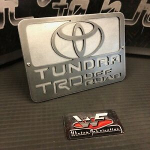 """Toyota Tundra TRD Off Road Hitch Cover - 1/8"""" Steel - Two Layers"""