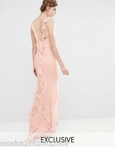 Jarlo-Pink-Wedding-Party-Cocktail-Maxi-Dress-with-Fishtail-UK10-EUR38-US6