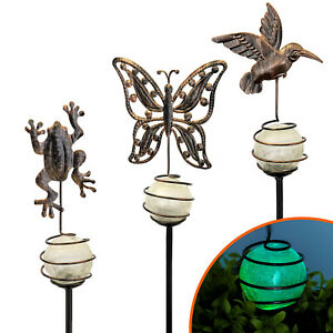 Glow-Gartenstecker-Kugel-mit-Leuchteffekt-Gartenstab-Garten-Deko-Tiertmotiv