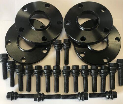 4 x 15 mm Noir Roue Alliage Entretoises 65.1 10 x 48 mm Boulons Pour VW Amarok Jeep