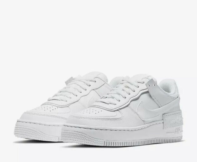 Nike Air Force 1 Shadow All White Women's Size 9 Ci0919 100 No Lid