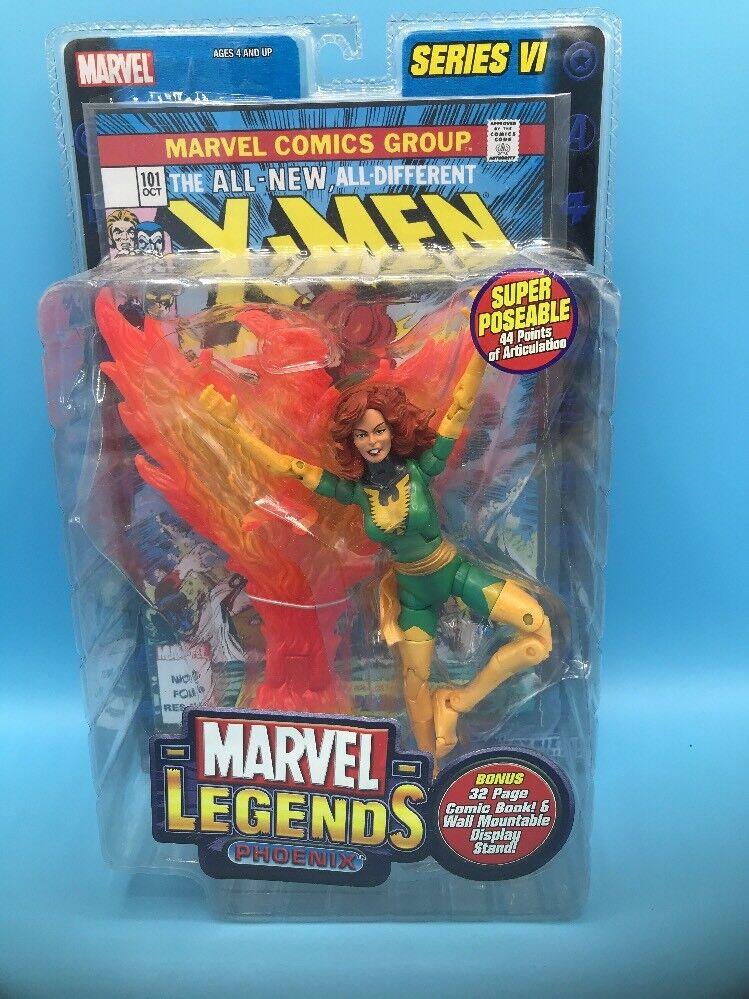 Marvel legends series vi x - men - jean grau phoenix figur mit comic - spielzeug - biz - 2004