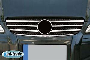 Acero Inox. Enfriador Parrilla Listones Cromo Para Mercedes Vito W639 i Año Fab.
